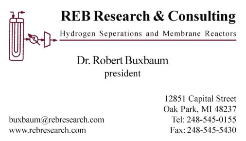 REB Research & Consulting co.                   12851 Capital St.                                Oak Park, MI 48237                                Phone: 248-545-0155    Fax: 248-545-5430