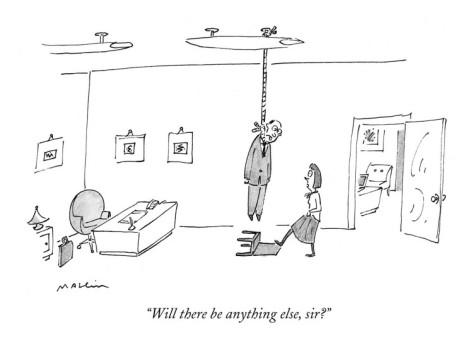 Being helpful isn't always helpful. Matthew Deffee, The New Yorker