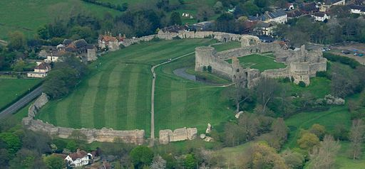 During Roman times Pevensey Castle (at right) was surrounded by water at high tide.If Al Gore is right, it will be surrounded by water again soon.