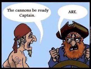 Grammar Pirate by Scott Clark, 2013.