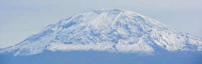 The snow cover on Kilimanjaro, 2013. If global warming models were true, it should be gone, or mostly gone.