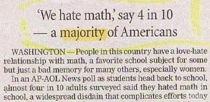 Americans hate math.