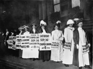 Suffragettes -- Meeting at Cooper Union. Not quite the poor, oppressed, but bringers of positive change, when they were not fighting for prohibition.