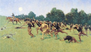 Roosevelt and the charge up Kettle Hill, Frederick Remington