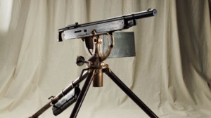A new type of machine gun,  a colt browning repeating rifle, a gift from Con'l Roosevelt to John Parker's Gatling gun detachment.