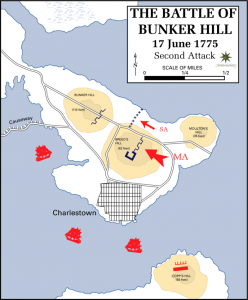 The second attack at Breeds Hill