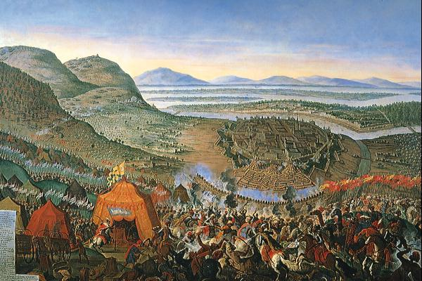 The forces of Mohamet IV surround Vienna, September 11, 1683.