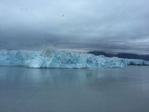 Hubbard Glacier, Alaska. Note how blue the ice is