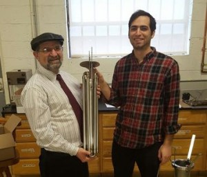 Me and Shua and our new hydrogen generator core