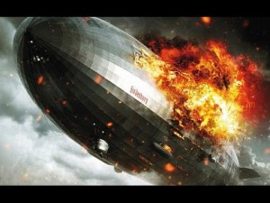 Closeup of the Hindenburg burning. It is the skin that burns, not the gaseous hydrogen