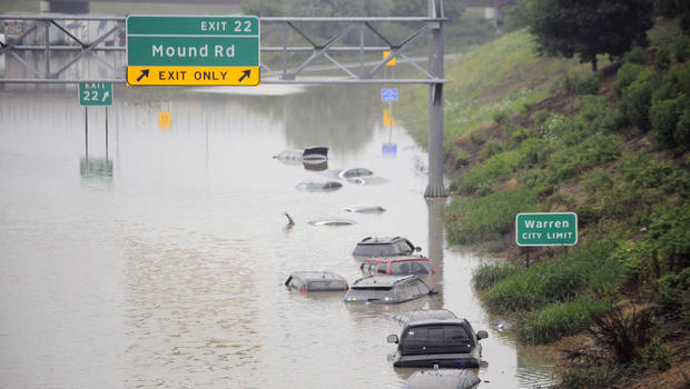 Flood of 2014; the view at 696 and Mound rd. It's just incompetence.