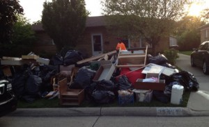My home after the 2014 Oakland county, MI flood. I had to throw out lots of stuff.