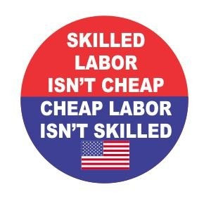 Popular emblem for hard hats in the USA. The original quote is attributed to Sailor Jack, a famous tattoo artist.