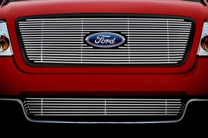 The grille on the front of a Ford is not only for decoration; it allows air to flow through. Some plates, and most broilers have grilles like this to that allow crumbs or gravy to drop through.
