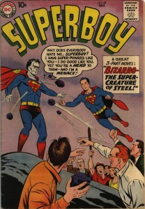 Bizarro Superman is hated on earth for no reason, just as normal superman is loved for no reason. There is a morality lesson here.