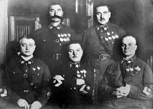In the interwar, peace years, Stalin removed 3 of the 5 top generals, 13 of 15 below them; 8 of 9 admirals, 50 of 57 army corps commanders, 154 out of 186 division commanders, 16 of 16 army commissars, and 25 of 28 army corps commissars.