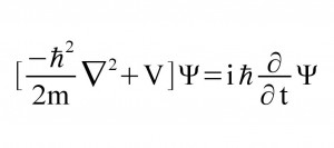 Schrödinger's wave equation, time dependent.