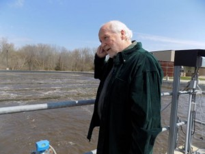 Bob Martin by the South Lyon, MI, Activated Sludge reactor