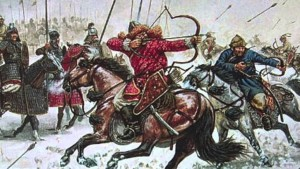 The Mongol army was almost entirely cavalry archers.