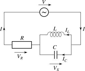 A version of the above excited by AC current. In this version, you achieve resonance by adjusting the coil, capacitor and resistance to match the forcing frequency.