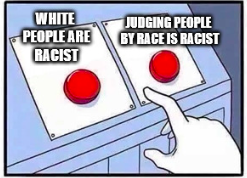 This is a popular meme about racism. It makes sense to me.